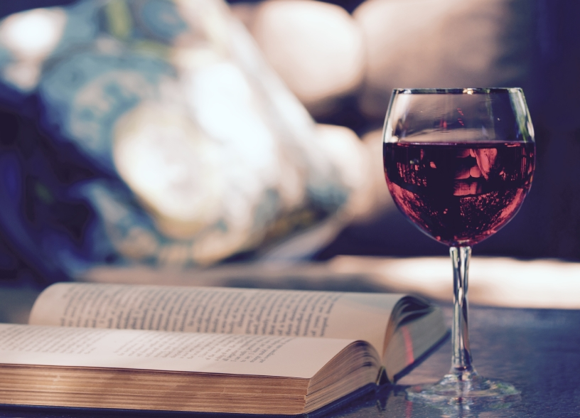 Red wine and open book iStock_000066787421_Small