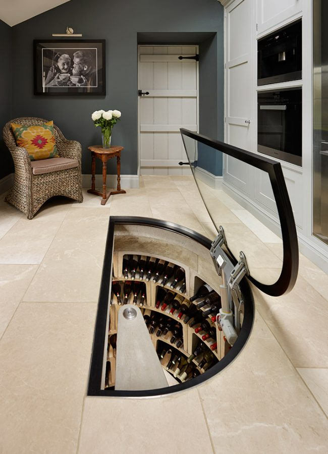 Spiral Cellar wine storage in home