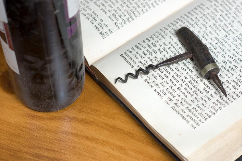 Wine corkscrew on book iStock_000005916770_Small