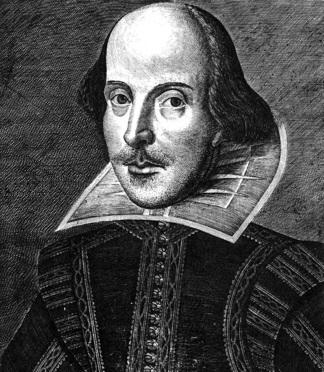 A sketched portrait of William Shakespeare