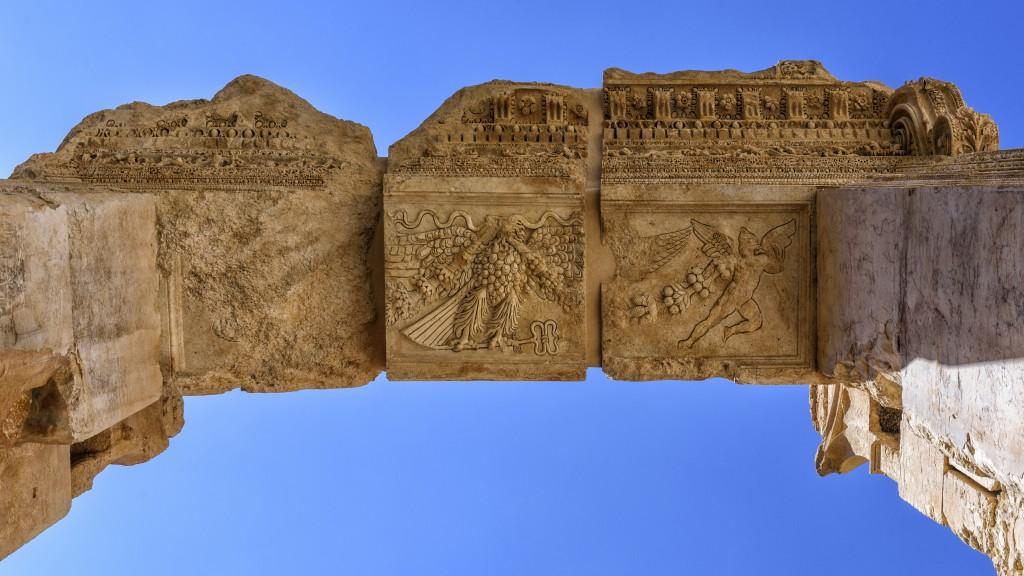 Key stone to the arch of Bacchus (Baalbek, Lebanon)