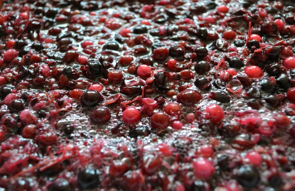 Fermentation of the pulp from berries for wine