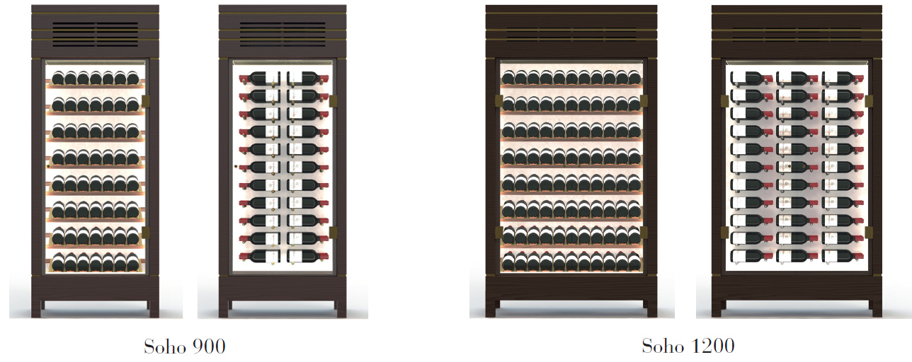 Soho wine display cabinets