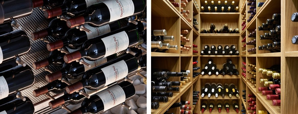 spiral cellars wine room holding a wine collection and organised neatly