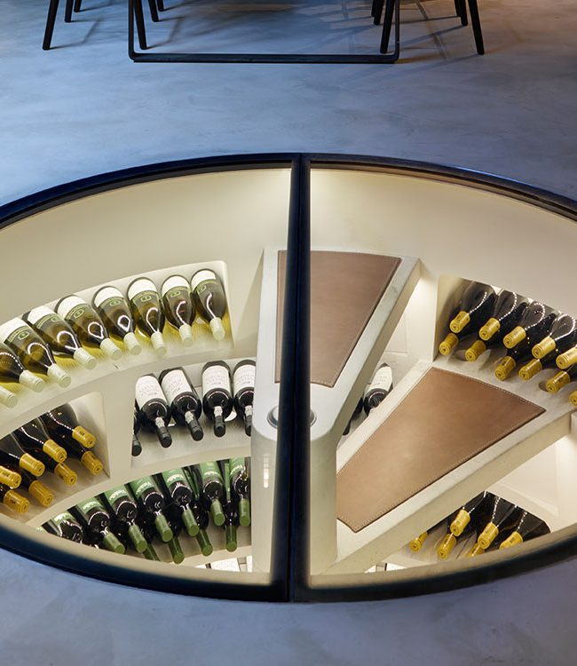Spiral Cellar wine storage