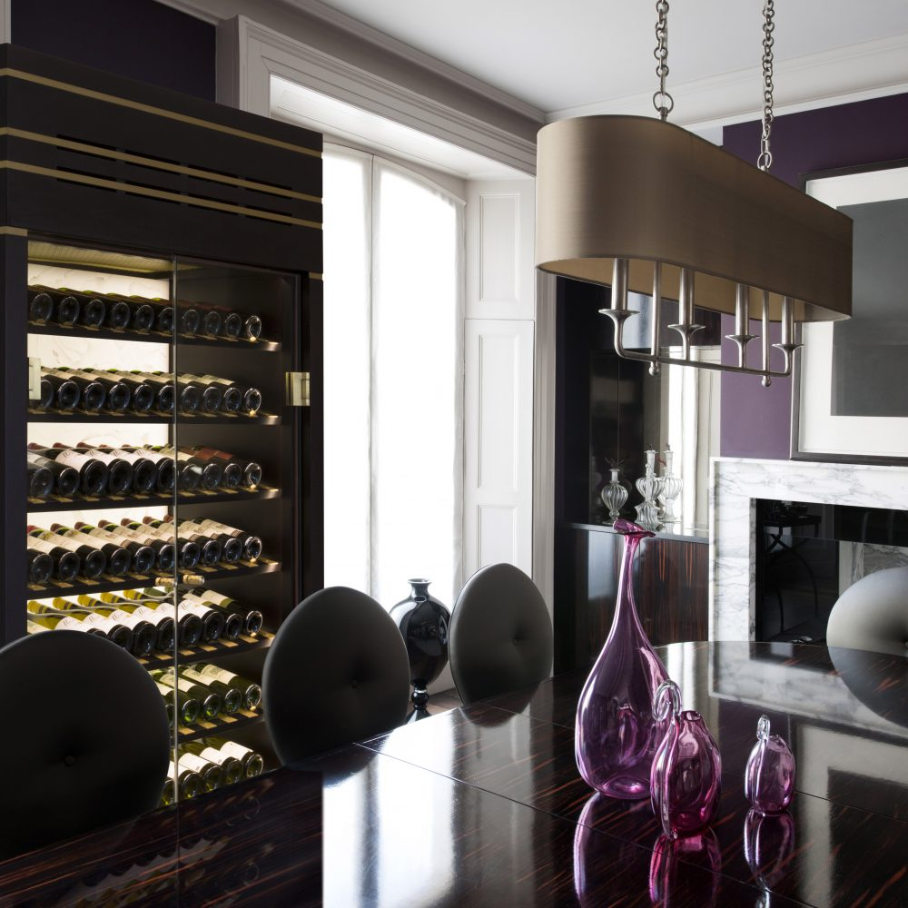 Dining Room with wine cabinet