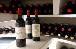 bottles of wine in spiral cellar